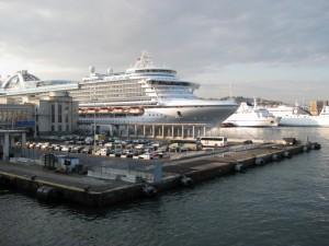 Cruise ship Bay of Naples