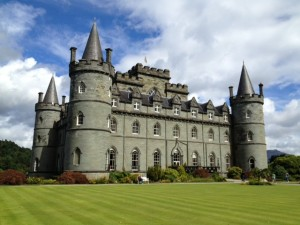 Family - Campbell Castle in Scotland