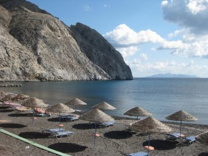 Santorini Beachj